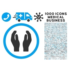 Applause Hands Icon with 1000 Medical Business vector