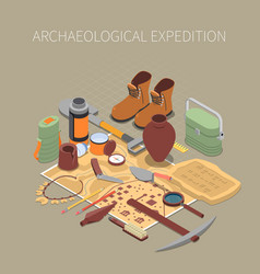 Archaeological expedition concept vector