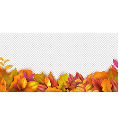 autumn banner fall leaves background realistic vector image