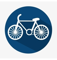 bicycle icon transport ecology button with shadow vector image