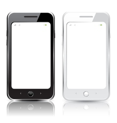 black and white smartphones vector image