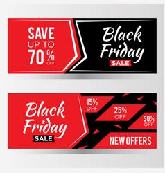 black friday sale latter banner for element vector image