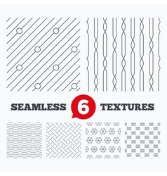 Braid weave diagonal lines seamless textures vector
