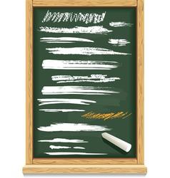 brush strokes chalk on a blackboard vector image