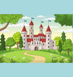 castle in forest vector image