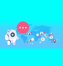 chatbot robot speech bubble arabic people avatar vector image