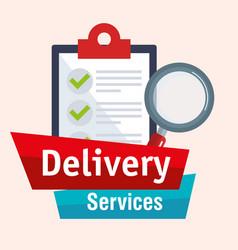 Checklist delivery service icon vector