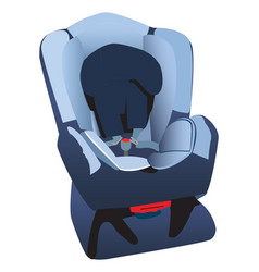 childs car seat vector image
