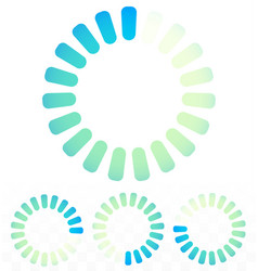 Circular preloader buffer symbol or general vector