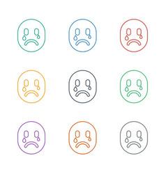 Crying emot icon white background vector
