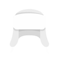 Ear flap winter hat icon flat style vector