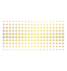 eco man golden halftone array vector image