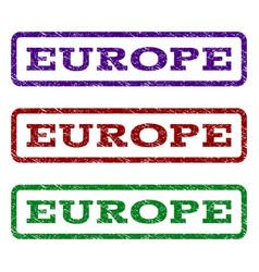 europe watermark stamp vector image