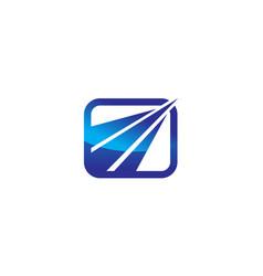 finance insurance service logo design template vector image