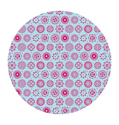 flowers in circle pattern vector image