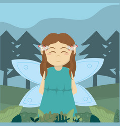 Forest fairy cartoon vector