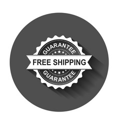 Free shipping grunge rubber stamp with long vector