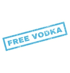 Free Vodka Rubber Stamp vector image