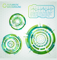 futuristic interface design elements vector image
