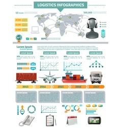 Global Logistics Infographics vector