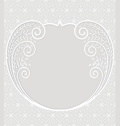 Greeting card with lace vector
