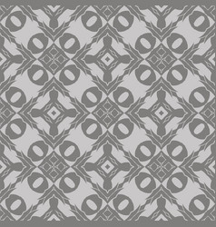 Grey ornamental seamless line pattern vector
