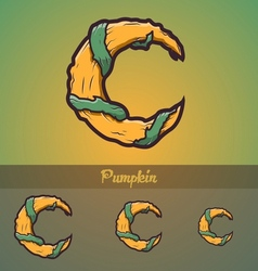 Halloween decorative alphabet - C letter vector