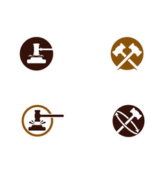 hammer court icon design vector image