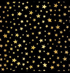 handdrawn star gold foil background pattern vector image