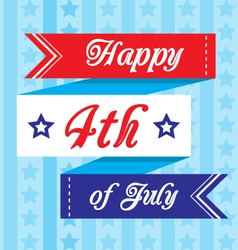 happy 4th of july banner vector image