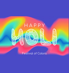 happy holi colorful banner template vector image