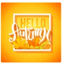 Hello autumn poster vector