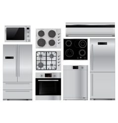 Home appliances Set of household kitchenware vector