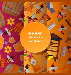 honey sweet seamless pattern apiary farm vector image