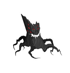 Horror tree on a white background evil monster vector