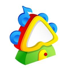 Icon tambourine vector