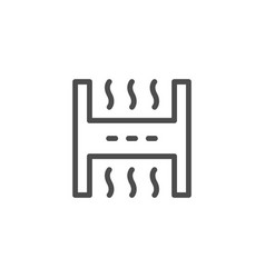 Industrial air filter line outline icon vector