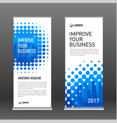 industrial roll up banner design template vector image