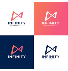 infinity symbol icon or logo template vector image