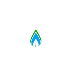 leaf waterdrop logo vector image