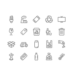 Line Garbage Icons vector