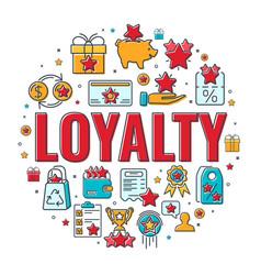 Loyalty program banner vector
