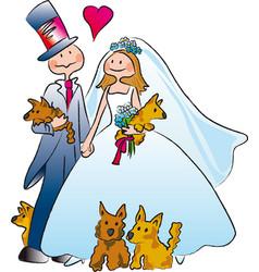 marriage vector image