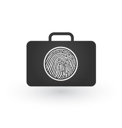 modern flat icon of secured briefcase with circle vector image
