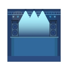 Music scene background vector