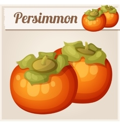 Persimmon fruit Cartoon icon vector