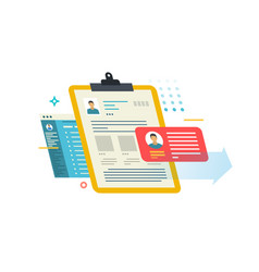 Person profile on different media vector