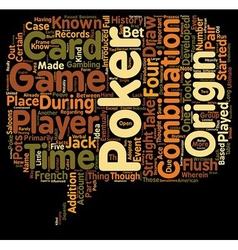 Poker text background wordcloud concept vector