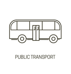 public transport isolated outline icon city bus vector image