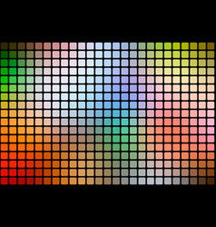 Rainbow colors abstract rounded mosaic background vector